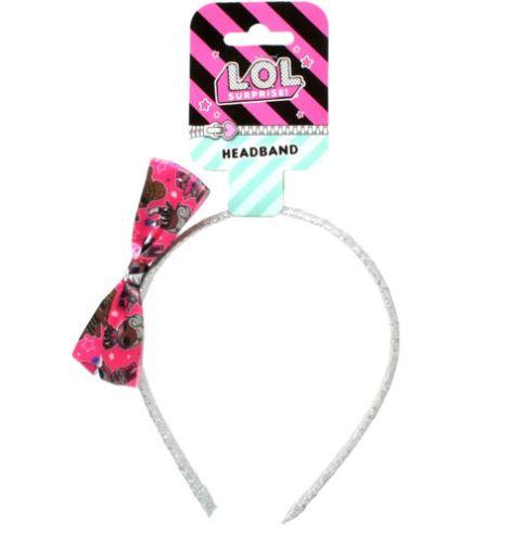 Official LOL Suprise Hair Band with Printed Bow