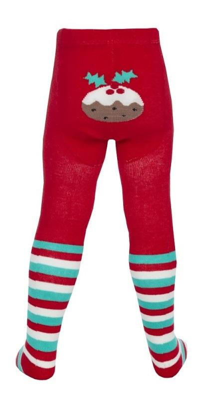 BABY CHRISTMAS PANEL DESIGN TIGHTS (0-24 MONTHS)