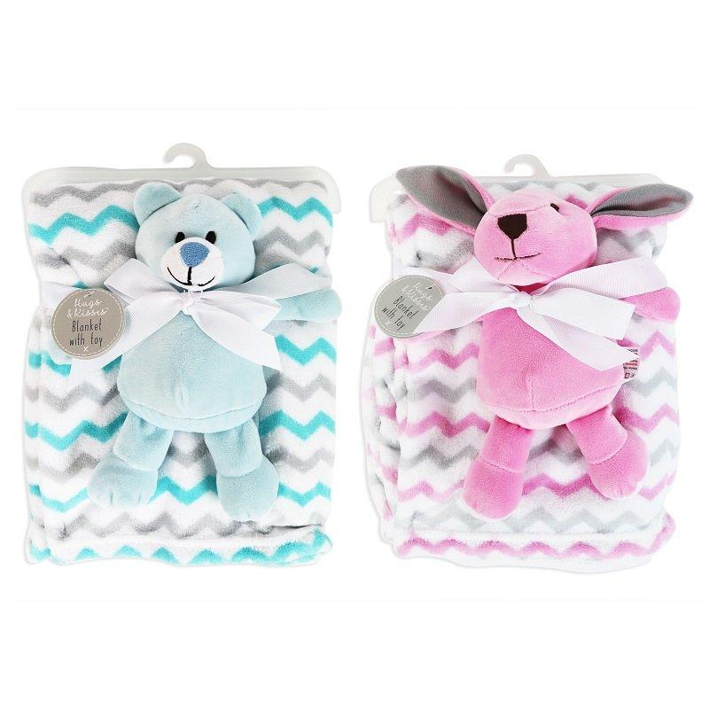 SUPER SOFT BABY COMFORT BLANKET WITH TOY