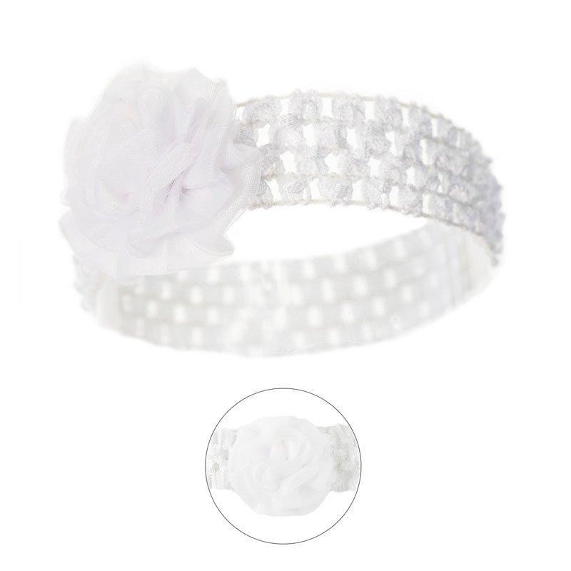 HeadBand Soft Touch - White (0-24 Months)