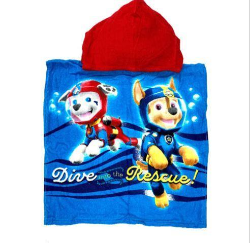 OFFICIAL BOYS PAW PATROL TOWEL COTTON PONCHO