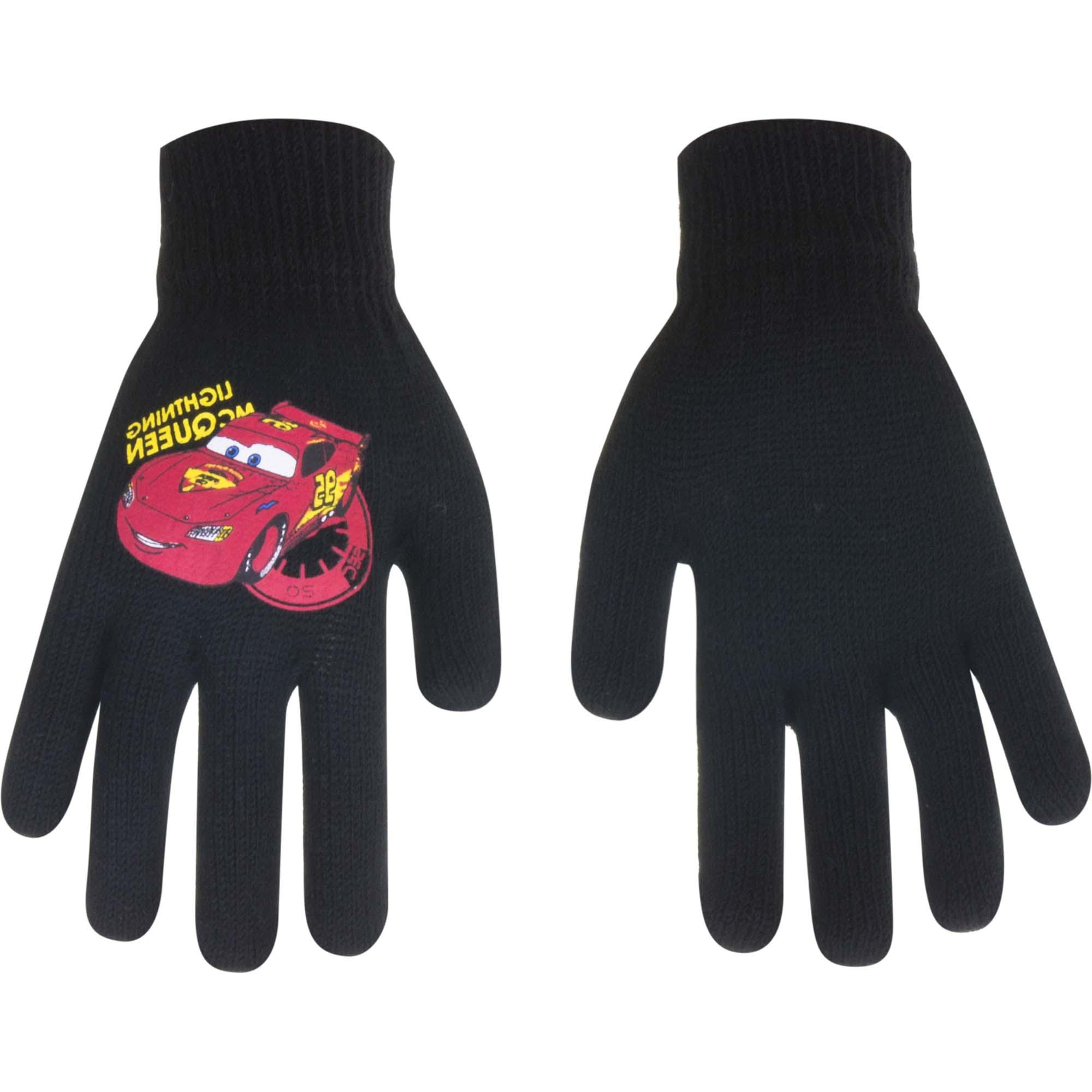 Cars Disney gloves MCQueen Black (Age 1-5 years)