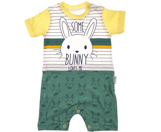 """Misbon baby bodysuit """"Some Bunny in Green"""" (0-9 Months)"""