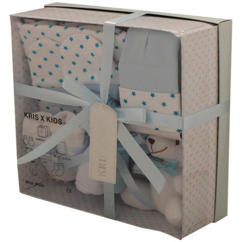 BLUE 7 PIECE LUXURY BOXED GIFT SET (0-3 MONTHS)