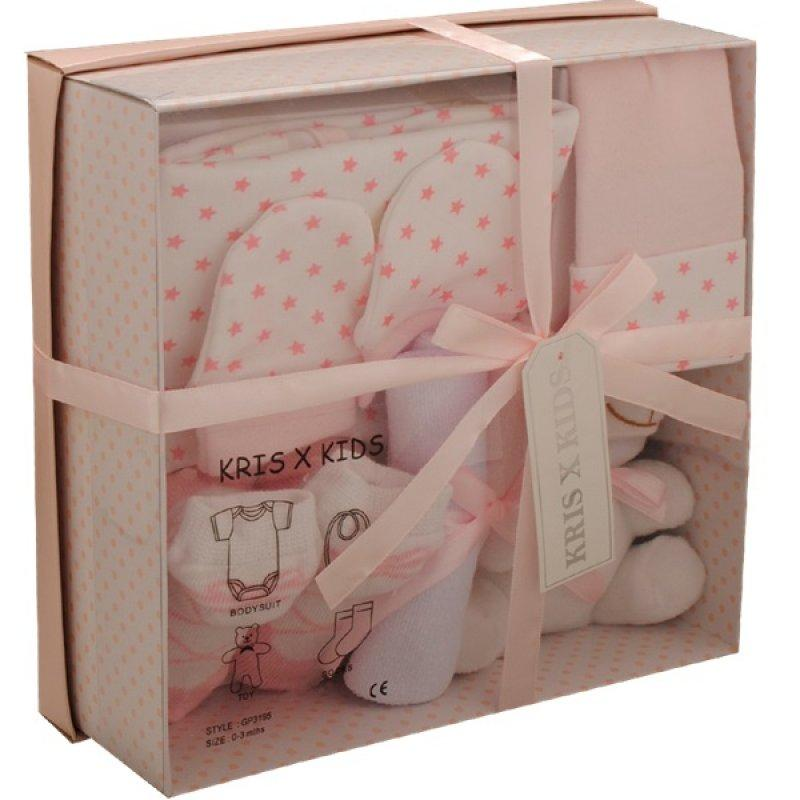 PINK 7 PIECE LUXURY BOXED GIFT SET (0-3 MONTHS)