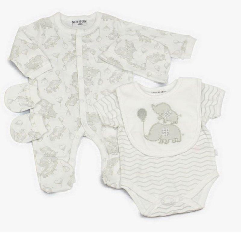 BABY UNISEX 5 PIECE NET BAG GIFT SET (0-9 MONTHS)