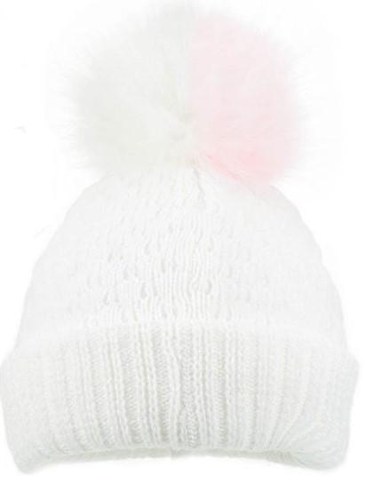 H600 WHITE DIAMOD RIBBED HAT-PINK (0-12 μηνών)
