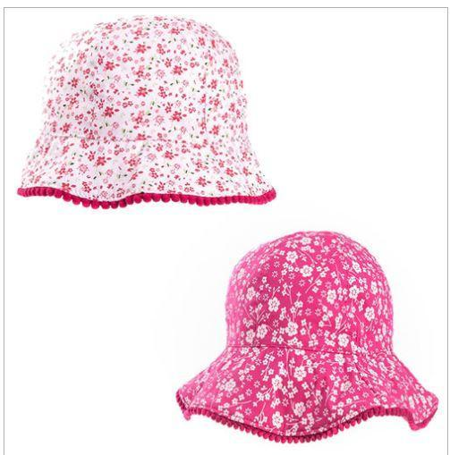 GIRLS FLORAL WIDE BRIM HAT (1-10 years old)