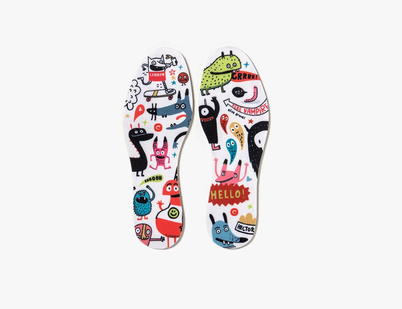 INSOLES WHITE MONSTERS