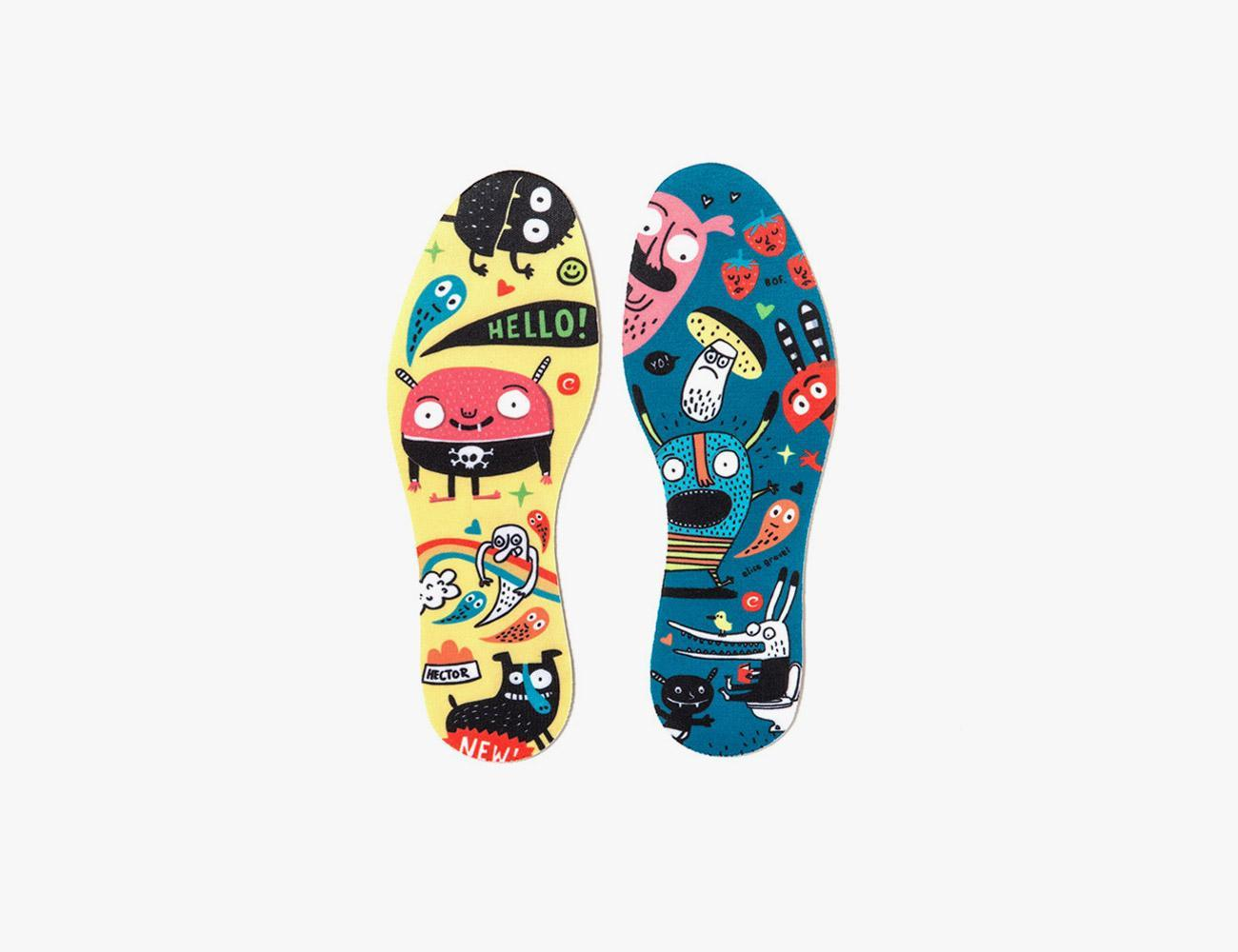 INSOLES COLOURED MONSTERS