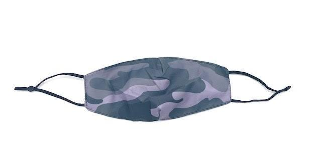 BLACK & GREY CAMOUFLAGE FACE COVERING (Age 12+)