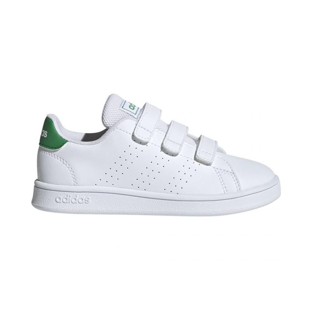 ADIDAS ADVANTAGE WHITE/GREEN EF0223