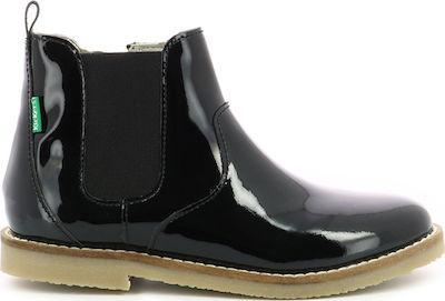 Kickers 748893-10 83 Melto cow plain Metallic Patent (No 22-27)