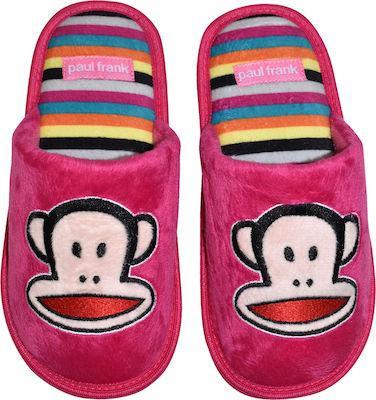 Paul Frank παιδικές παντόφλες ροζ (No 31-38)