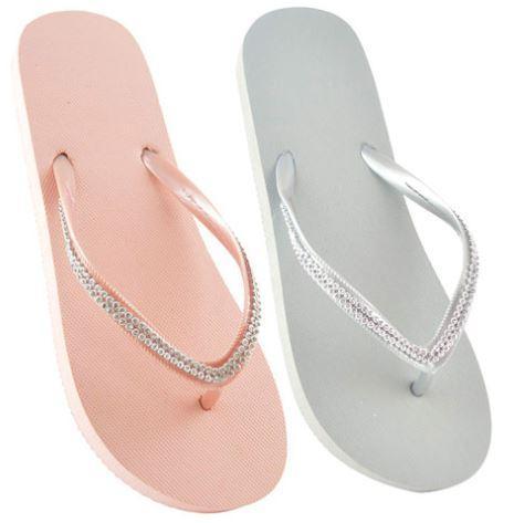 Adolescent Slippers Diamante Strap (No 36-41)