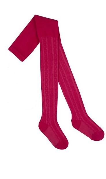 46B200 Girls Textured Tights fuxia (2-8 years old)