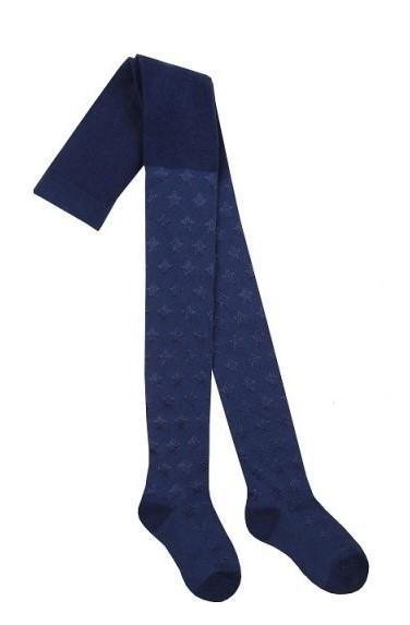 46B404 Girls Textured Tights blue (2-8 years old)