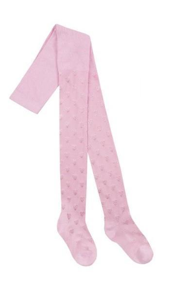 46B404 Girls Textured Tights pink (2-8 years old)