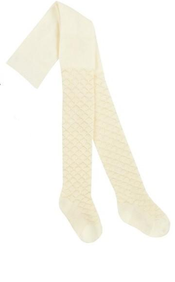46B404 Girls Textured Tights white (2-8 years old)