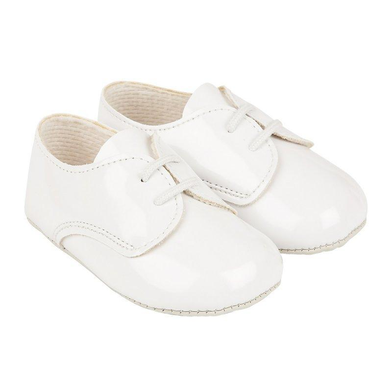 B010 BABY BOYS SOFT SOLED SHOE- WHITE