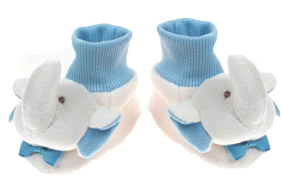 VELVET FLEECE BOOTEES- BOY (0-6 months)