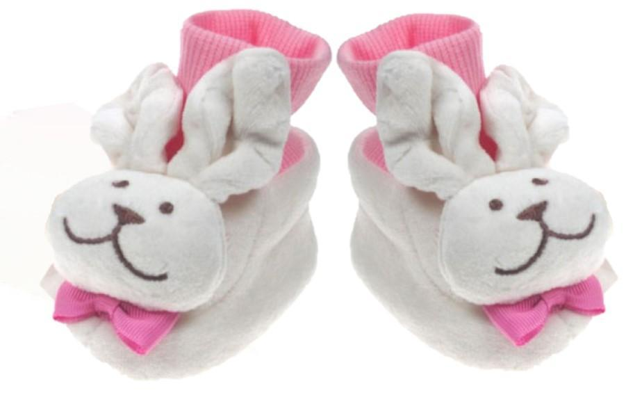 VELVET FLEECE BOOTEES- GIRL (0-6 months)