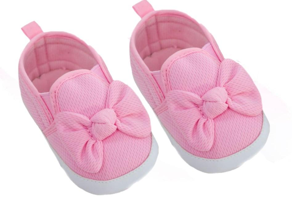 SLIP ON WAFFLE SHOES -PINK  (6-15 months)