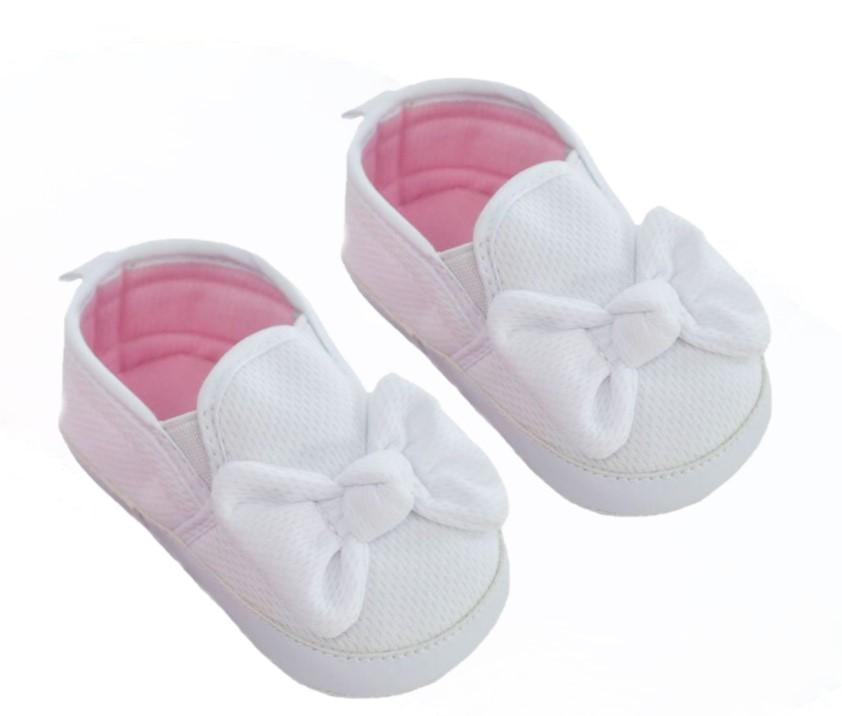 SLIP ON WAFFLE SHOES -White (6-15 months)