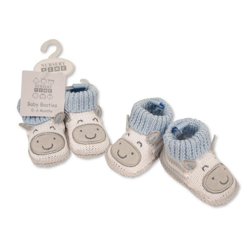 BABY BOYS COTTON KNITTED BOOTIES (0-6 months old)
