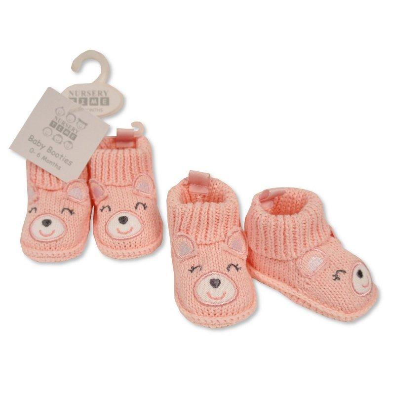 BABY GIRLS COTTON KNITTED BOOTIES (0-6 months old)