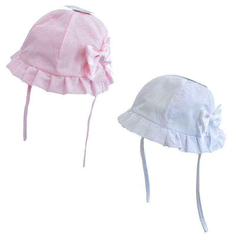 Plain Hat w/Large Bow (0-24 Months)