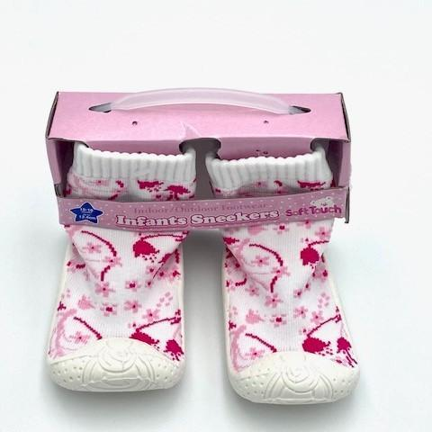 Anti-Slip Pink Socks by SoftTouch (No 19-22)