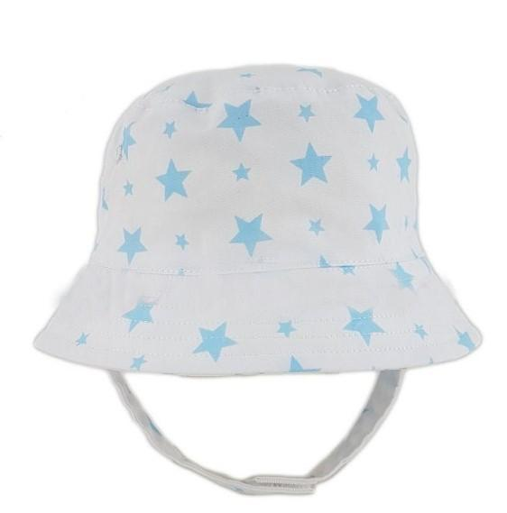 0284 Baby Boys hat with chin strap (0-6 Months)