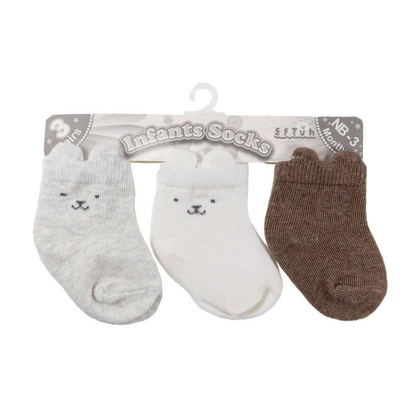 Baby Socks 3d 3 Pack Socks (0-12 Months)