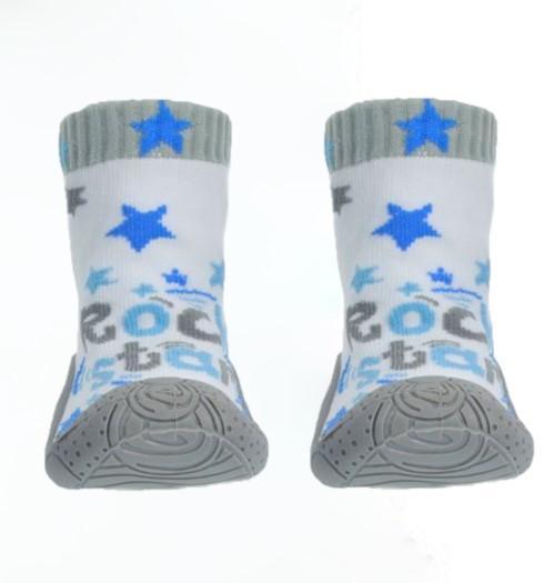 Rock Star Slipper Sock (No 19-22)