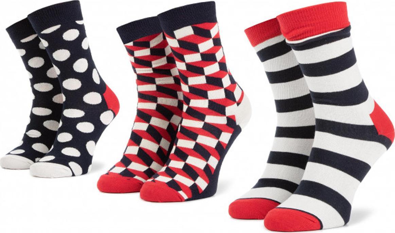 Happy Socks XSTR08-6000 3 Τεμάχια (Νο 36-40)