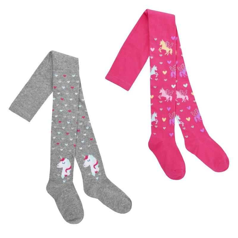 GIRLS ASSORTED UNICORN DESIGN TIGHTS