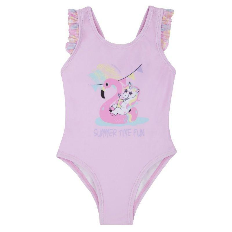 BABY GIRLS FRILL PRINT SWIMSUIT (3-24 μηνών)