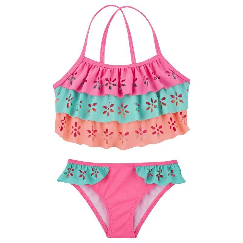 OLDER GIRLS LASER CUT 2 PIECE SWIM SUIT (2-13 YEARS)
