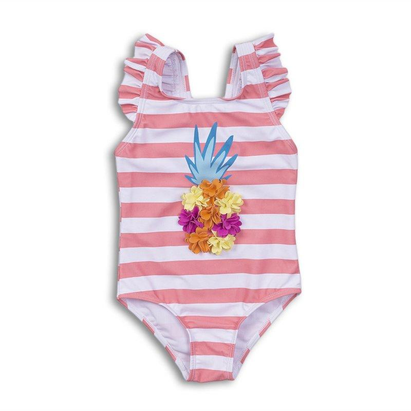 AOP STRIPE PINEAPPLE SWIMSUIT (9 MONTHS-3 YEARS)